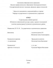 Комитет по делам молодежи отчет о практике 6210