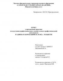 Отчет по практике об адвокатуре 2133